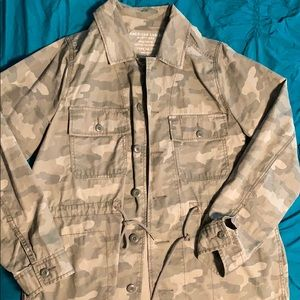 American Eagle Camo Army Jacket